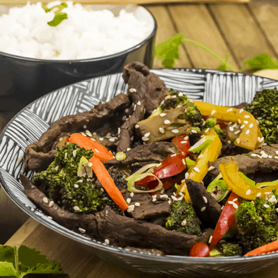 Garlic Ginger Beef Stir Fry