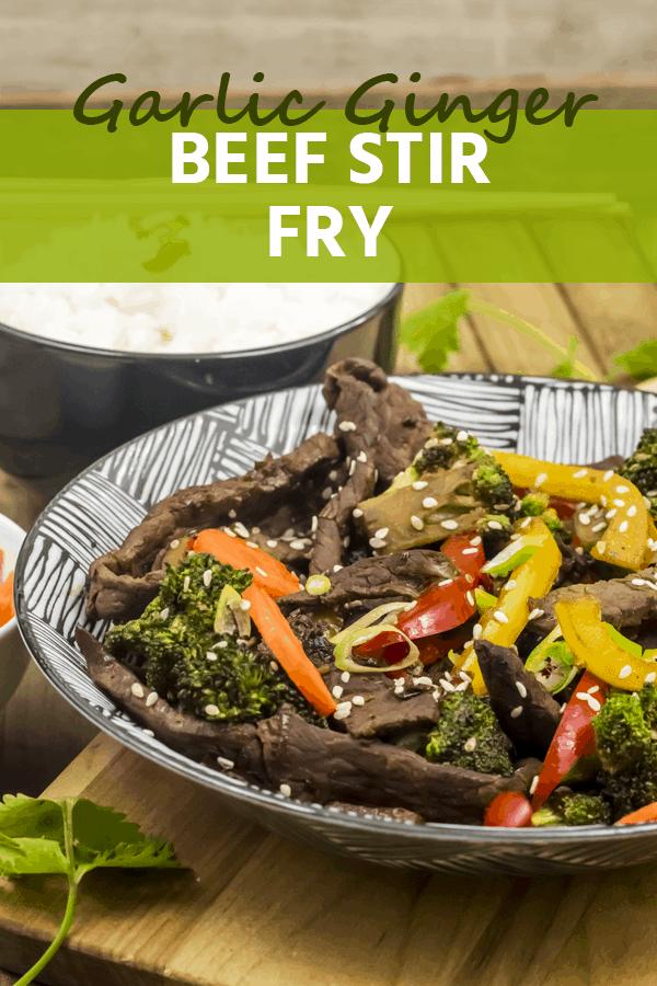 Ready, set, stir-fry! This Garlic Ginger Beef Stir Fry is one of our family's favorite