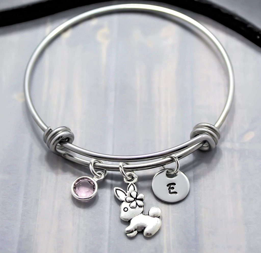 rabbit bangle bracelet