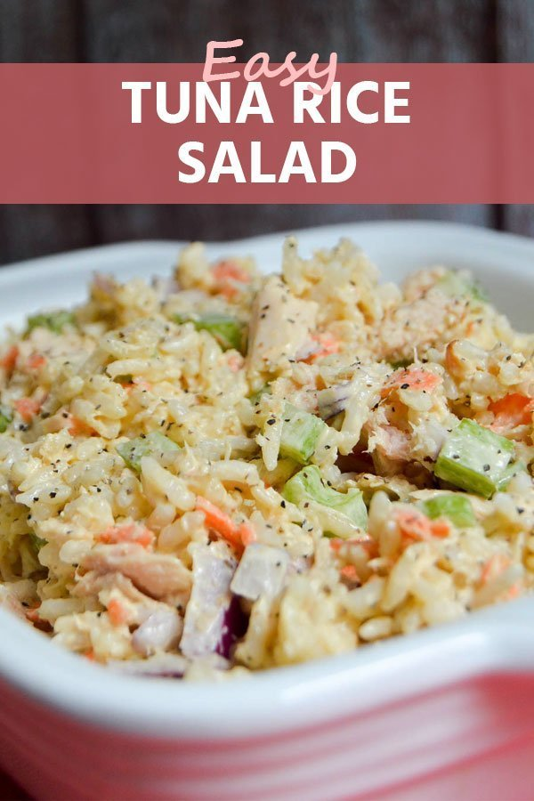 Refreshing flavors in this colorful, delicious tuna rice salad. Quick and easy, perfect filling meal or side dish for busy moms and for large families.