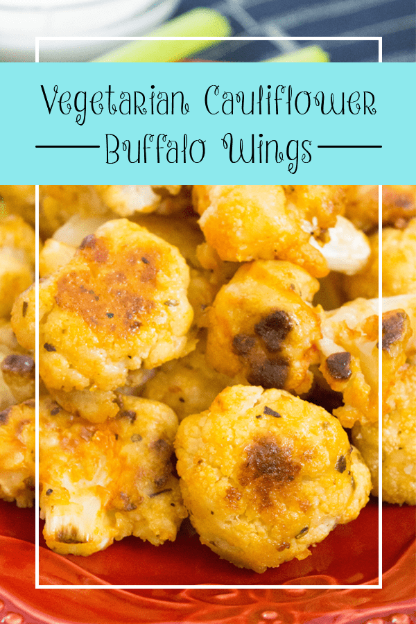 Crispy on the outiside, soft and tender on the inside, these Vegetarian Cauliflower Buffalo Wings are an easy and fun way to eat a vegetable!