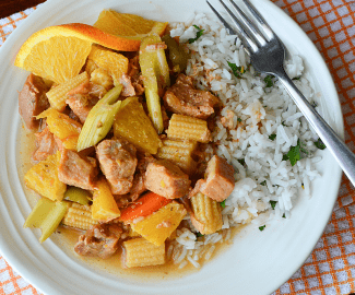 This savory Slow Cooker Orange Ginger Pork recipe is so easy to prepare that it is perfect for busy weeknights and also for entertaining guests.