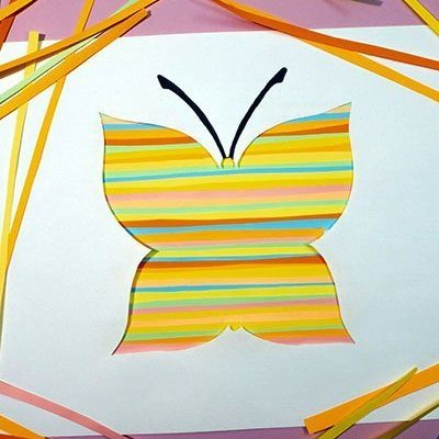 Paper Butterfly Silhouette Craft