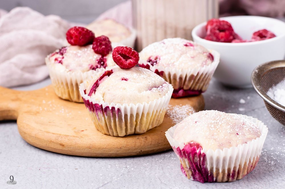 we love low carb berries on our keto muffins