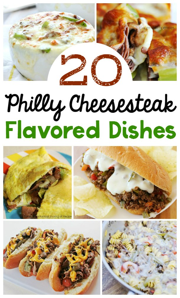 Indulge yourself with some cheesy goodness with one of these amazing Philadelphia Cheesesteak dishes. These are Real Food Family Recipes everyone will love!