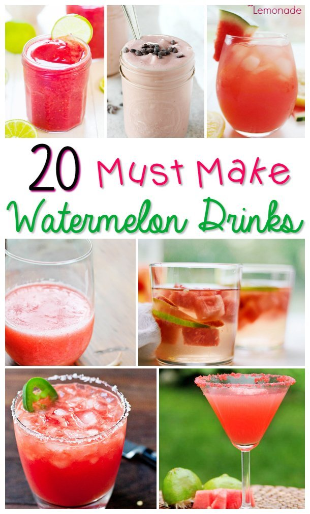 Watermelon Drinks are perfect for summer to cool off and refresh in the hot sun! Check this list for great options!
