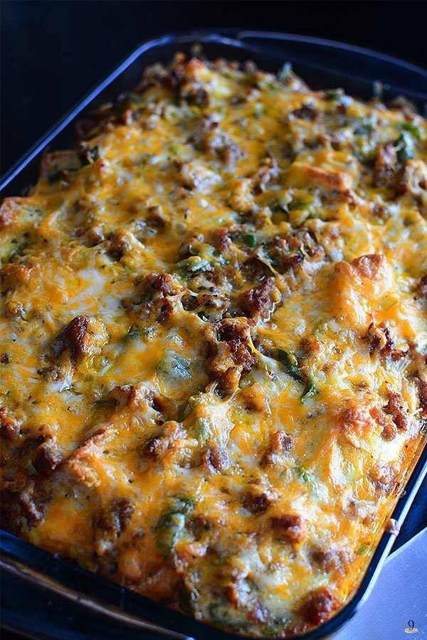 Are you looking for a breakfast recipe for picky eaters that will feed a large group? If yes, then, brace yourself, good mommas!  I'm going to share with you all a super easy, cheesy, and absolutely delicious Sausage Breakfast Casserole recipe!