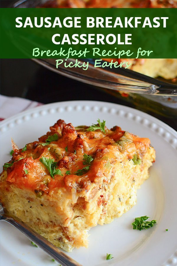 Are you looking for a breakfast recipe for picky eaters that will feed a large group? I'm going to share with you all a super easy, cheesy, and absolutely delicious Sausage Breakfast Casserole recipe!