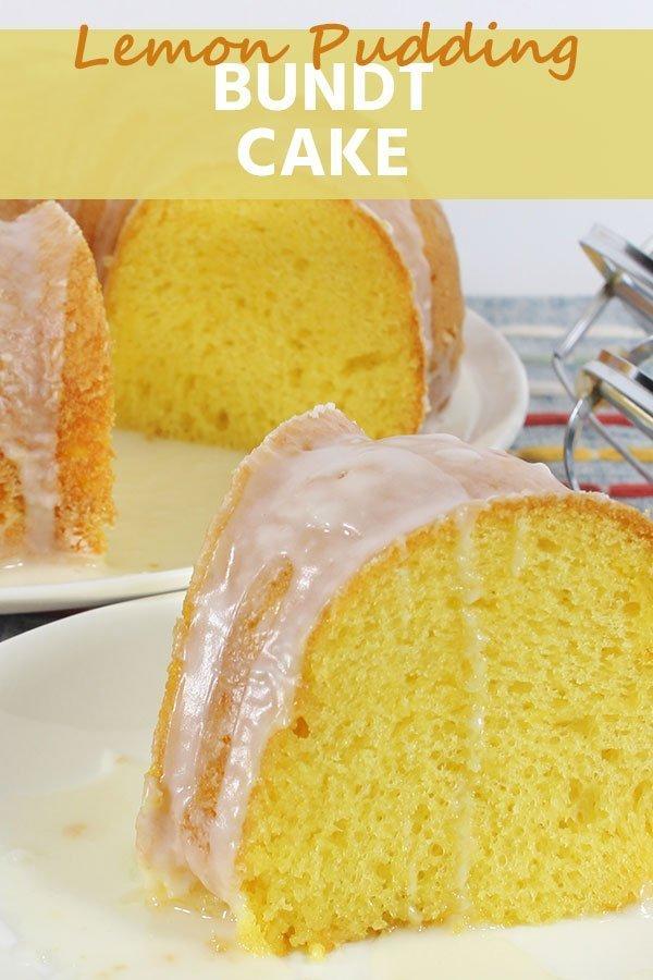 lemon pudding bundt cake