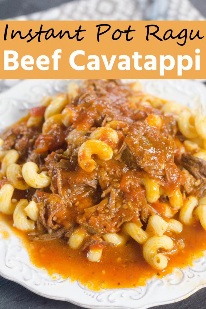 Instant Pot Ragu Beef Cavatappi
